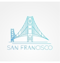 World famous Golden Gate bridge vector image