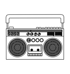 Isolated tape recorder design vector