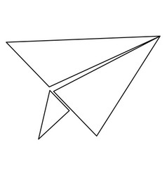 Paper airplane the black color icon vector