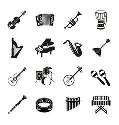 digital black music vector image