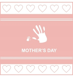 Gift card on mothers day vector