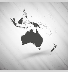 Australia map on gray background grunge texture vector