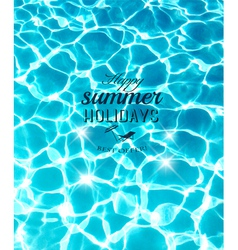 Summer holidays background with beautiful sea vector