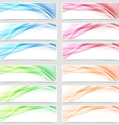 Bright smooth abstract line swoosh web footer vector image