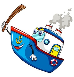 Ship and stick vector image