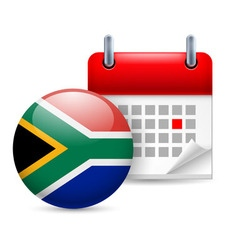 Icon of national day in south africa vector