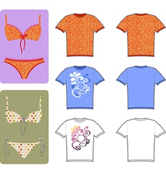 Swimsuit and tee vector
