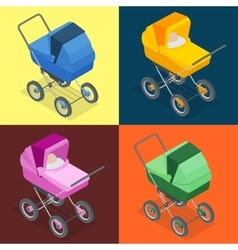Baby pram pushchair stroller perambulator vector