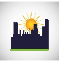 Sun design city icon summer concept vector