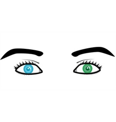beautiful pairs of eyes vector image