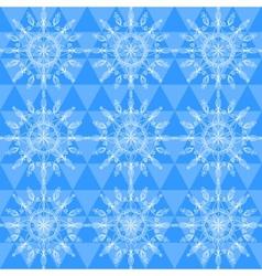 Beautiful snowflakes seamless pattern vector image vector image