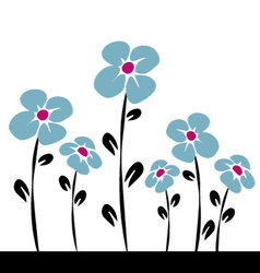 blue daisys vector image vector image