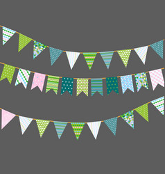 Bunting flags with patterns vector