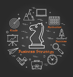 Chalk board - business strategy vector