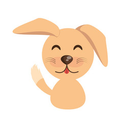Cute dog animal character funny vector