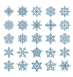 Different snowflake elements set vector image vector image