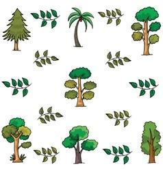 Doodle of tree palm leaf vector