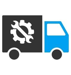 Equipment truck flat icon vector