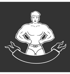 Gym sign vector