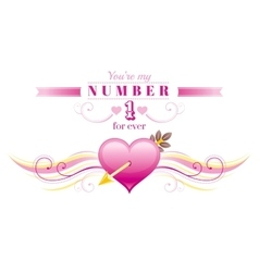 Happy valentines day border cupid arrow pink vector