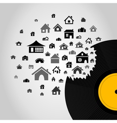 House Vinyl vector image vector image