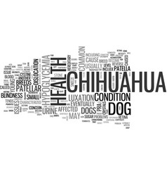 Issues in chihuahua health text background word vector