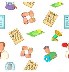 Job search pattern cartoon style vector