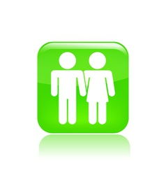 lovers icon vector image