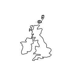 map of united kingdom black color icon vector image vector image