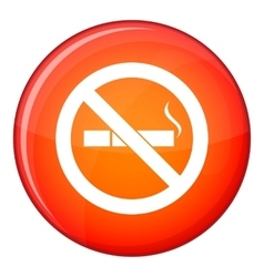 No smoking sign icon flat style vector image vector image