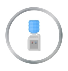 Office water cooler icon in cartoon style isolated vector