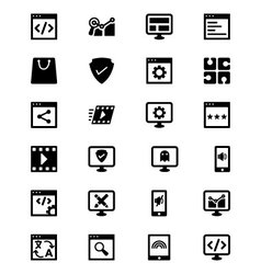 Online marketing icons 1 vector
