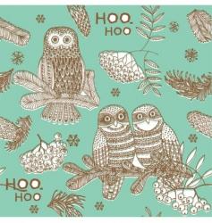 owls hooting vector image vector image