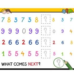 Preschool pattern task for kids vector