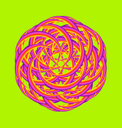 Psychedelic mark vector