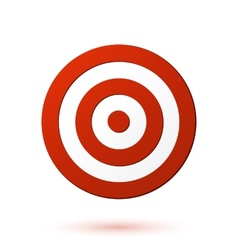 Red target icon vector