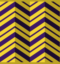 Seamless pattern purple yellow zig zag background vector