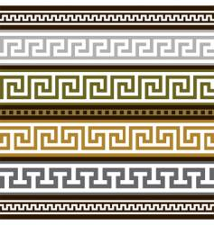 Set of greek geometric borders vector
