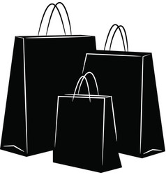 Shopping bags silhouettes vector