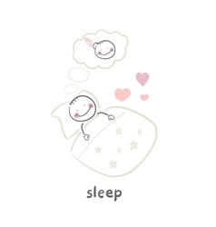 sleep vector image vector image