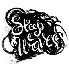 Steep waves surfing print vector