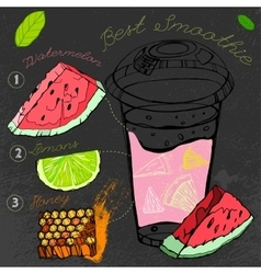 Watermelon lemon smoothie 01 a vector