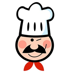 Winking chef face vector