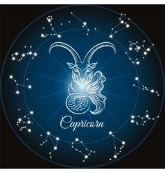 Zodiac capricorn sign vector