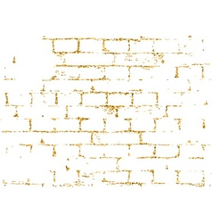 Brick wall gold texture pattern black decorative vector