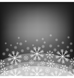 Abstract background with bokeh bright snowflake vector