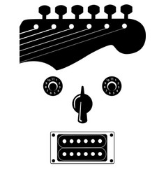 Funky guitar face music background vector