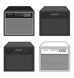 Guitar amplifier icon in cartoon style isolated on vector