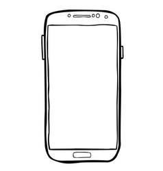 Cartoon image of cellphone icon smartphone vector