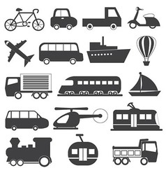 Transportation icons collection vector